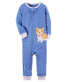 Carter's 1-Piece Snug Fit Cotton Footless Sleep Suit - Blue