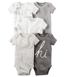 Carter's 5-Pack Bodysuit - Grey White