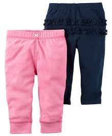 Carter's 2-Pack Girls Leggings - Blue Pink
