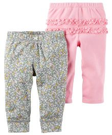 Carter's 2 Pack Babysoft Pants - Pink Grey