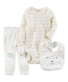 Carter's 3-Piece Little Character Set -  White