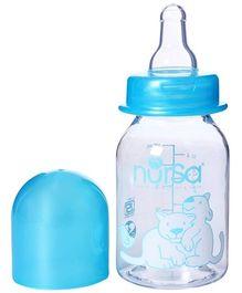 Nursa Round Feeding Bottle Blue - 125 ml