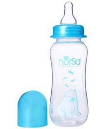 Nursa Shaped Feeding Bottle Blue 250 ml