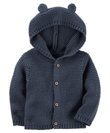 Carter's Hooded Cardigan - Navy Blue