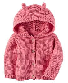 Carter's Hooded Cardigan - Pink