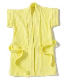 Pebbles Half Sleeves Bathrobe - Yellow