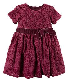 Carter's Lace Dress - Burgundy