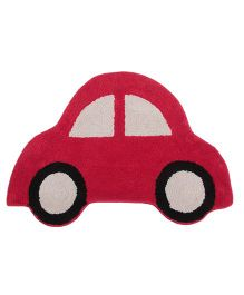 Saral Home Car Shape Bath Mat - Red