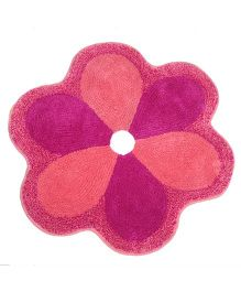 Saral Home Flower Shape Bath Mat - Pink