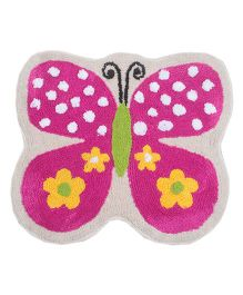 Saral Home Butterfly Design Bath Mat - Pink