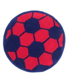 Saral Home Premium Quality Bath Mat Football Design - Red Blue