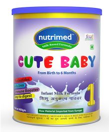 Nutrimed Cute Baby 1 Infant Milk Formula - 400 gm