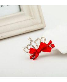 Funky Baby Princess Crown Aligator Clip - Red
