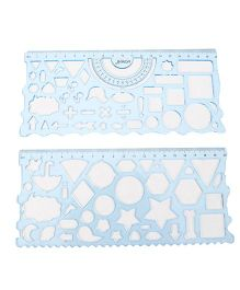 Durable Stencil Cum Ruler  - (Colours may Vary)