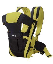 LuvLap Elegant 4 Way Baby Carrier - Black & Green