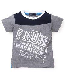 Smarty Half Sleeves Printed T-Shirt - Grey