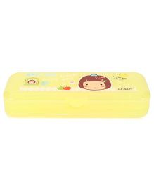 Lovely Print Pencil Box - Yellow