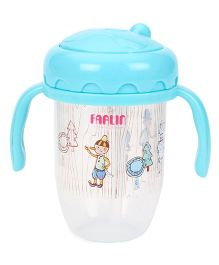 Farlin Training 2 In 1 Spout And Straw Cup - Blue