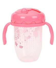 Farlin Training 2 In 1 Spout And Straw Cup Pink - 200 ml