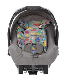 Graco High End Pop Junior Baby Rear Facing Car Seat - Grey