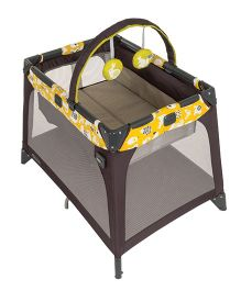 Graco Pack N Play Playard Nimble Nook - Brown & Lime