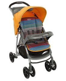Graco Mirage Plus Stroller Jaffa Stripe - Orange Grey