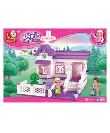 Sluban Girl's Dream Doll House Construction Set M38-B0156N - 193 Pieces