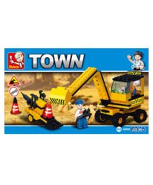 Sluban Town Heavy Engineering Blocks Game - Yellow