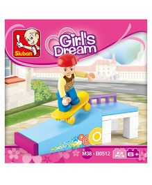 Sluban Girls Dream Skate Boy Blocks Game - Blue Yellow