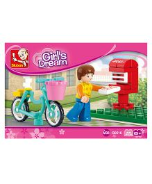 Sluban Girls Dream Letter Delivery Blocks Game - Multi Color
