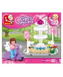 Sluban Girls Dream Fountain Blocks Game - Multi Color