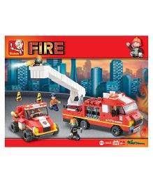 Sluban Fire Alarm Blocks Game - Red