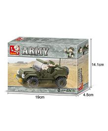 Sluban Land Forces Army Car Blocks Game - Green