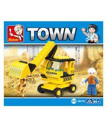 Sluban City Scene Blocks Game M38-B0176 - Yellow