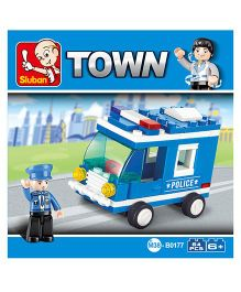 Sluban City Scene Blocks Game M38-B0177 - Blue