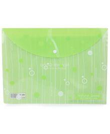 Envelope Folder Bag - Green White