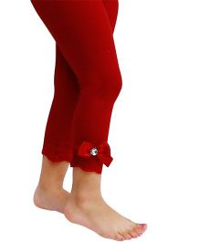 D'chica Dainty And Lacy Leggings - Red