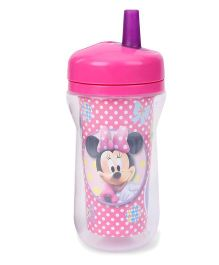 Disney Minnie Mouse Insulated Straw Cup Pink Purple - 266 ml