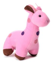 Playtoons Baby Giraffe Dark Pink - Height 17 cm