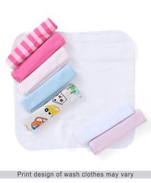Babyhug Wash Cloth Pack Of 8 - Multi Color
