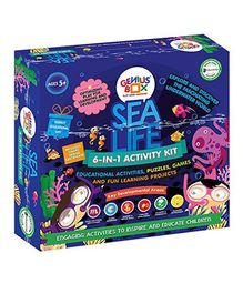 Genius Box Learning Toys For Children Sea Life Activity Kit - Blue