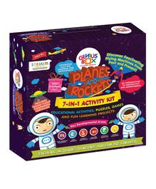 Genius Box Planes And Rockets 7 in 1 Activity Kit - Multi Color