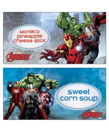 Avengers Food Labels Pack of 10 - Multi Color