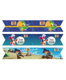 Captain Jake And The Neverland Pirates Drink Straws Pack of 10 - Blue