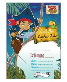 Captain Jake And the Neverland Pirates Invitations Pack of 10 - Blue