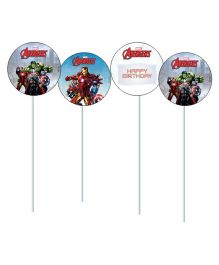 Avengers Cupcake Food Toppers - Multi Color