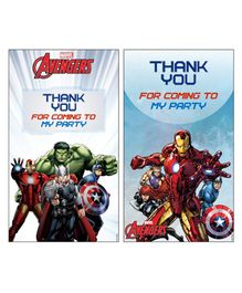 Avengers Thankyou Cards Pack of 10 - Multi Color