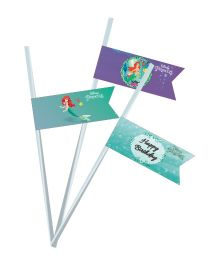 Disney Ariel The Mermaid Drink Straws Pack of 10 - Green Purple