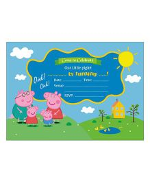 Peppa Pig Theme Invitations - Pack Of 10