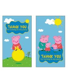 Peppa Pig Theme Thank You Cards Pack of 10 - Multicolour